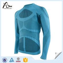 Tops thermiques d'homme de polyester de polyester usage extérieur de forme physique