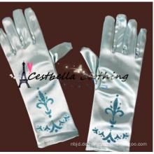 Hochwertige blaue gefrorene Elsa Kleid Hochzeit Handschuh Bulk Fabrikverkauf