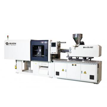 Cosmetic pet preform injection moulding machine
