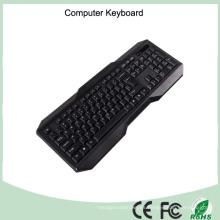 Teclado simple del ordenador de la impresión del laser del certificado de RoHS del CE (KB-1801)