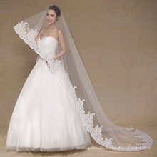 Aoliweiya Tulle One Layer Lace 3m Wedding Veil for Bride