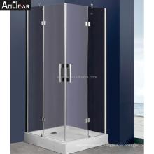 Aokeliya frameless corner shower glass and shower doors near me glass panel shower door