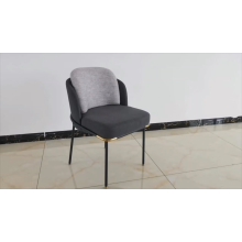 Wholesale hotel restaurant luxury fabric upholstered bentwood dining chair metal frame