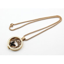 Fashion Pearl Seting Floating Locket Necklace Jewelry