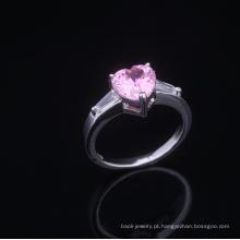 Anéis de aniversário romântico de casamento de 10 anos aaa cubic zirconia rings Ródio banhado a jóia é sua boa escolha