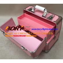 Aluminium Metall Aufbewahrungskoffer Travel Box Professional Makeup Case