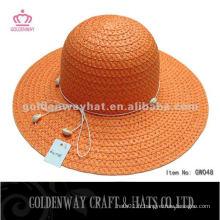 Fashion Orange Braid Lady Hat GW048 chapeau de plage d'été