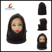 HW0070B LINGSHANG 100%FLEECE winter outdoor ski full face mask balaclava