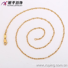 42116 Xuping fashion simple design 18k engagement lady necklace