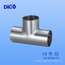 Stainless Steel 304 Sanitary Welded Tee for Food Industry