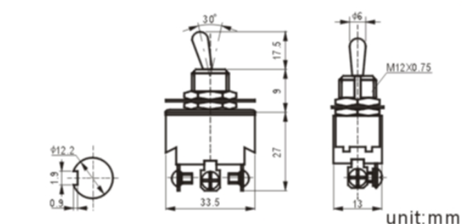 KN3(B)-103A-1 toggle switch