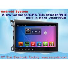 Système Android 10,1 pouces voiture lecteur DVD pour Honda Civic avec navigation GPS