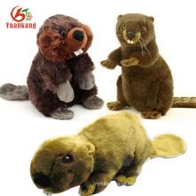 Brinquedos personalizados do castor do bebê do luxuoso do Spandex Stuffed feito sob encomenda com projeto do cliente