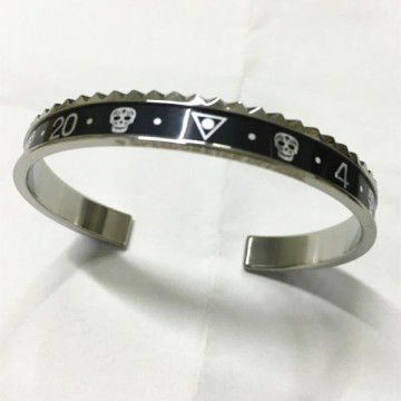 Pulsera para hombre de acero inoxidable Ghost Speedometer Bangle