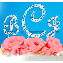 Crystal Alphabelt Rhinestone Initial Letter a to Z Wedding Cake Topper