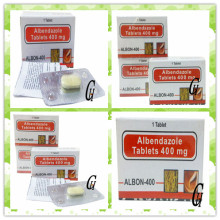 Antiparasitic Albendazole Tablets 400mg