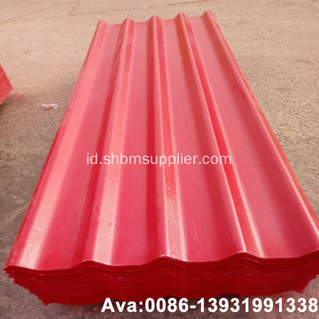 Fiberglass Diperkuat PET-Membrane MgO Corrugated Roof Tiles