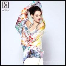 Nueva bufanda impresa de seda del diseño
