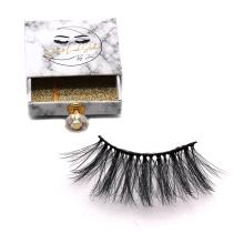 DL028 Hitomi eyelash box packaging imported korea synthetic fiber silk lashes false eyelashes private label 25mm silk eyelashes