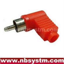 RCA-Stecker rechtwinklig rot