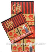 100% coton Terry serviette couleur foncée dessin animé film modèle serviettes à main Ht-018