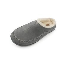 Promotion Price Men Suede Hard Wearing Flat Heel Fur Slippers