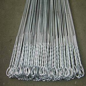 galvanized single loop tie wire