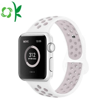 Warna Double terbaru Apple Watch Band silikon 42mm / 38mm
