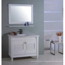 Meuble-lavabo en bois blanc (B-310)