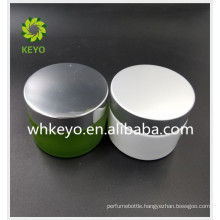 50g 100g white green glass face cream jar frost thick bottom cosmetic jar with aluminum lid