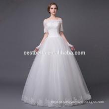 Vestido de noiva com pérolas sexy para vestido de noiva de noiva madura para casamento