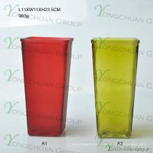 Круглая стеклянная ваза для домашнего украшения