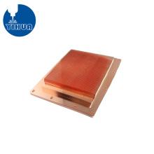Dissipador de calor de cobre usinado CNC