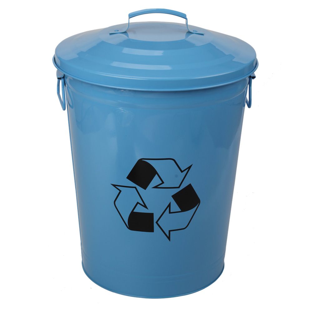 Light Blue Trash Can