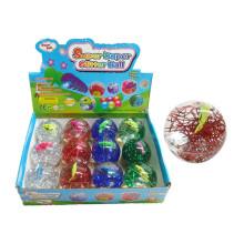 6,5 cm Kinder Sport Spielzeug Kunststoff Bouncing Ball mit Licht (10187949)