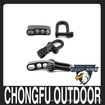 Stainless steel four hole U shape buckle for paracord bracelet