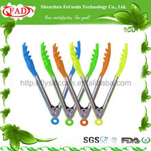 2014 New hot sale 100% food grade material silicone kitchen tongs