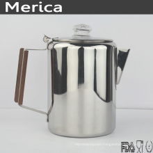 Stainless Steel coffee Pot with Wooden Handle