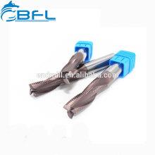 Moinho de extremidade quadrada do carboneto de BFL, moinho de extremidade do nariz da bola, fabricante do moinho da extremidade áspera