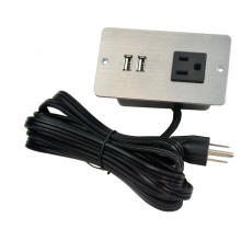 US Single Outlet Unit-Buchse mit USB-Anschluss