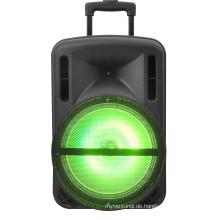 12 Zoll tragbare Hecklautsprecher batteriebetriebene Bluetooth PA Lautsprecher USB / SD Aufnahme FM Radio und USB / SD USB Player F12-1