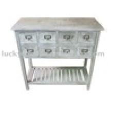 Старинная мебель Потертый шикарный стол с консолью с полкой