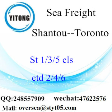 Shantou Port LCL Consolidation To Toronto