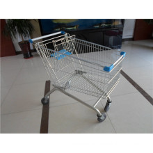 Four Wheels Shopping Trolley Used in Supermarket