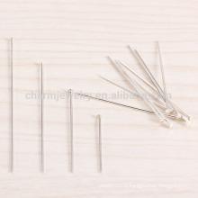 Sef026 100pc / lot 4/5/3 / 2CM Argent sterling T-pin flat scalp acupuncture Aiguille à champignons Aiguilles à parapluie bracelet diy accessorie