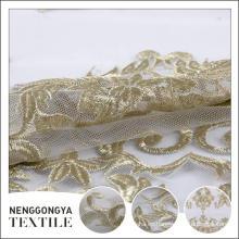 Tela barata del bordado del cordón del poliester de China barato