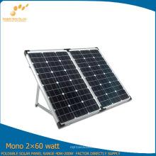 Panel solar plegable monocristalino portátil 120W para acampar
