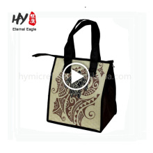 Customized double sided printing fashion cooler bag sale by bulk