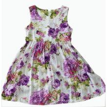 Vestido de niña de flores para niños ropa (SQD-113-púrpura)