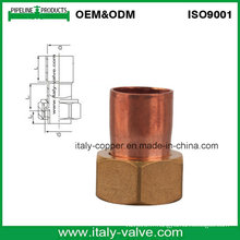 Adaptateur de qualité en cuivre de qualité avec bouchon en laiton (AV8008)
